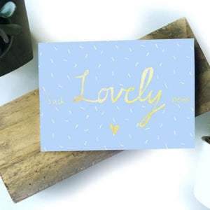 Nicola Rowlands Card - Such Lovely News from have you met charlie a gift shop with Australian unique handmade gifts in Adelaide South Australia