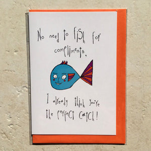 Orange Forest Greeting Card - Fishy Sort of Love