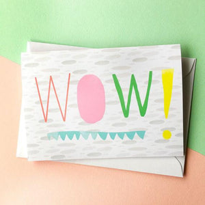 Nicola Rowlands Card - Wow from have you met charlie a gift shop with Australian unique handmade gifts in Adelaide South Australia