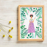 frida kahlo art print by viktorija illustration from have you met charlie a gift shop with unique handmade australian gifts in adelaide south australia