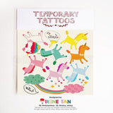 temporary tattoos kids cute unicorn sticker miss minzy from have you met charlie a gift shop with australian unique hand made gifts in adelaide australia