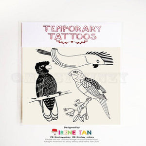 Missy Minzy Temporary Tattoos - Aussie Birds
