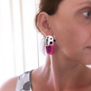 Marley Made This -  Australian Budgie Statement Stud-dangle