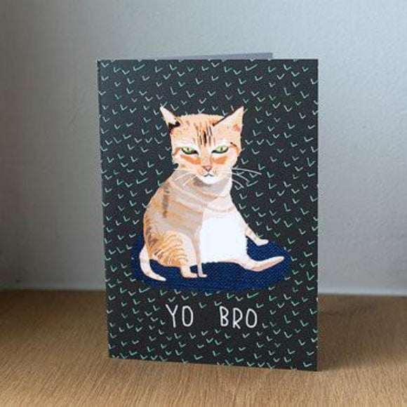 Nicola Rowlands Card - Yo, Bro from have you met charlie a gift shop with Australian unique handmade gifts in Adelaide South Australia
