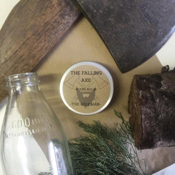 The Falling Axe - The Milkman Beard Balm from have you met charlie a gift shop with Australian unique handmade gifts in Adelaide South Australia