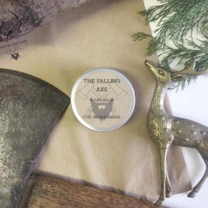The Falling Axe - The Woodsman Beard Balm from have you met charlie a gift shop with Australian unique handmade gifts in Adelaide South Australia