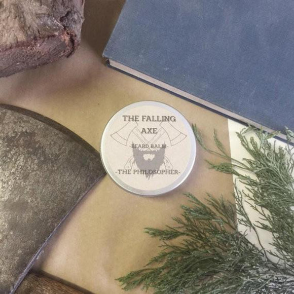 The Falling Axe - The Philosopher Beard Balm from have you met charlie a gift shop with Australian unique handmade gifts in Adelaide South Australia