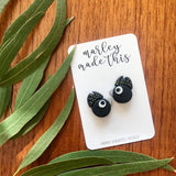 black cockatoo stud polymer clay earrings by marley made this from have you met charlie a gift shop with unique handmade australian gifts in adelaide south australia