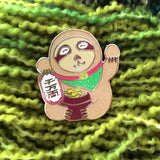 lucky sloth enamel pin by miss minzy hand from have you met charlie a gift shop with unique handmade gifts in adelaide south australia