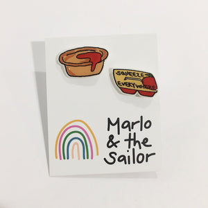 junk food hand drawn colourful stud earrings by marlo & the sailor from have you met charlie a gift shop with unique handmade australian gifts in adelaide south australia