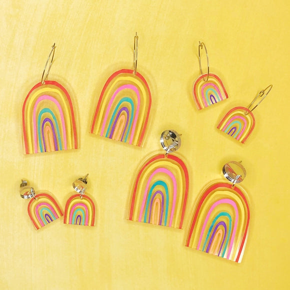 Mintcloud Earrings Dangle - Rainbow from have you met charlie a gift shop with Australian unique handmade gifts in Adelaide South Australia