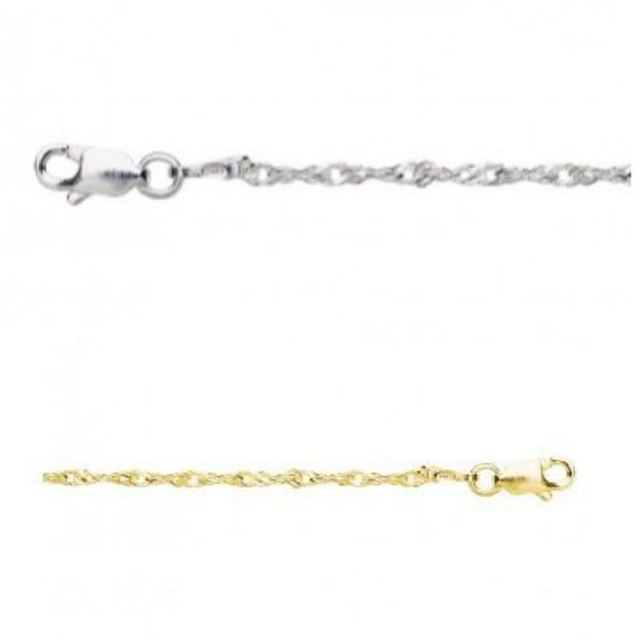 anklet sterling silver twist have you met charlie adelaide gift shop