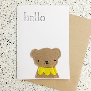 Fleeci Handmade Eco Card - Bear