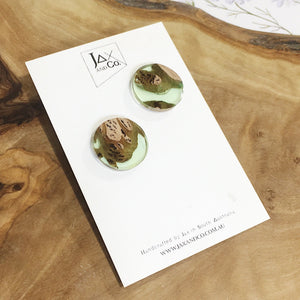 Jax & Co Studs  - Wood and Resin