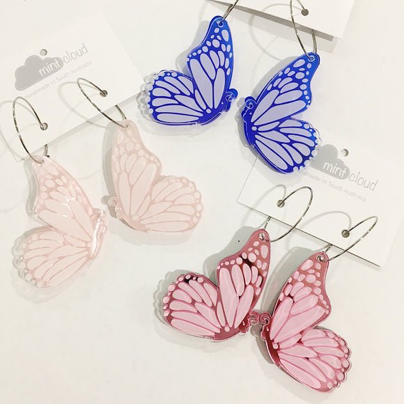 Mintcloud Dangle - Peekaboo and Acrylic Double Butterfly