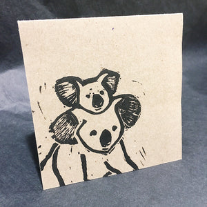 koala with baby greeting card by value laboratory from have you met charlie a gift shop with unique handmade australian gifts in adelaide south australia