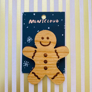 Mintcloud Christmas Brooch - Gingerbread Man from have you met charlie a gift shop with Australian unique handmade gifts in Adelaide South Australia