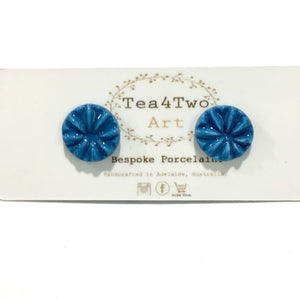 Tea 4 Two Art Earrings - Coloured Flower Studs
