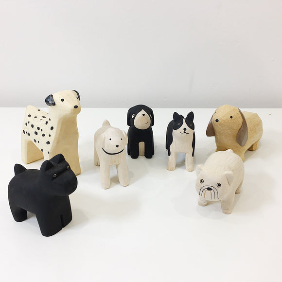 hand carved wooden dog ornaments from unique gift shop have you met charlie in adelaide south australia
