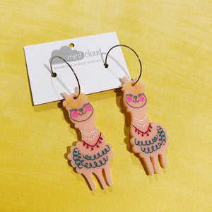 Mintcloud Dangles -  Festive Hand Painted Alpacca from have you met charlie a gift shop with Australian unique handmade gifts in Adelaide South Australia