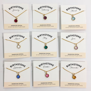Bec Platt Designs Birthstone Necklaces - Gold Various