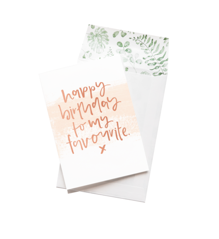 Emma Kate Co Greeting Card - Happy Birthday to my Favourite