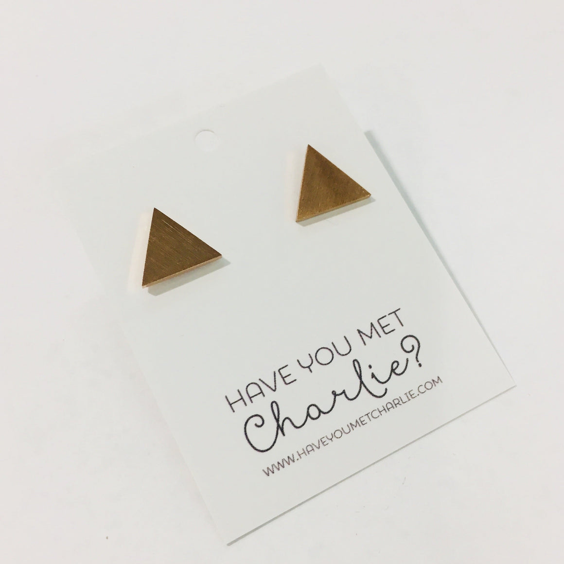 Stainless Steel Earrings - Triangle