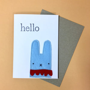 Fleeci Handmade Eco Card - Blue Bunny