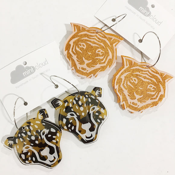 Mintcloud Dangle - Peekaboo and Acrylic Double Cheetah and Tiger