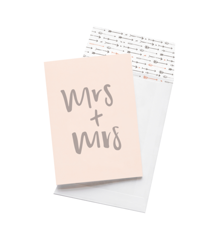 Emma Kate Co Greeting Card - Mrs + Mrs