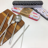 retro kitchen carry your cutlery metal set from have you met charlie a unique gift shop in adelaide south australia