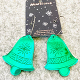 Mintcloud Christmas Earrings - Christmas Bells from have you met charlie a gift shop with Australian unique handmade gifts in Adelaide South Australia