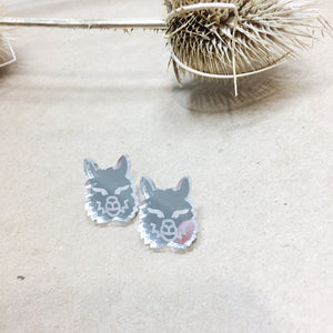 Mintcloud Earrings - Alpacca Face from have you met charlie a gift shop with Australian unique handmade gifts in Adelaie South Australia