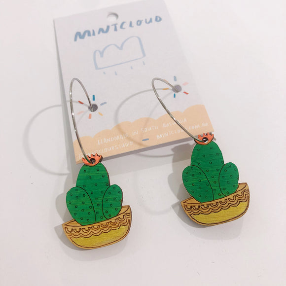 Mintcloud Dangles - potted cacti trio from have you met charlie a gift shop with Australian unique handmade gifts in Adelaide South Australia