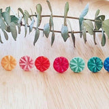 Tea 4 Two Art Earrings - Coloured Flower Studs Various from have you met charlie a gift shop with Australian unique handmade gifts in Adelaide South Australia