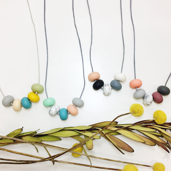 various abacus silicone necklaces by indi & frey from have you met charlie a gift shop with Australian unique handmade gifts in Adelaide South Australia