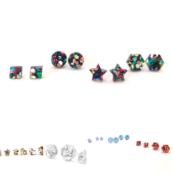 Mintcloud Chunky Sparkle Studs - Various Colours