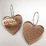 Mintcloud Dangles -  Etched Hearts