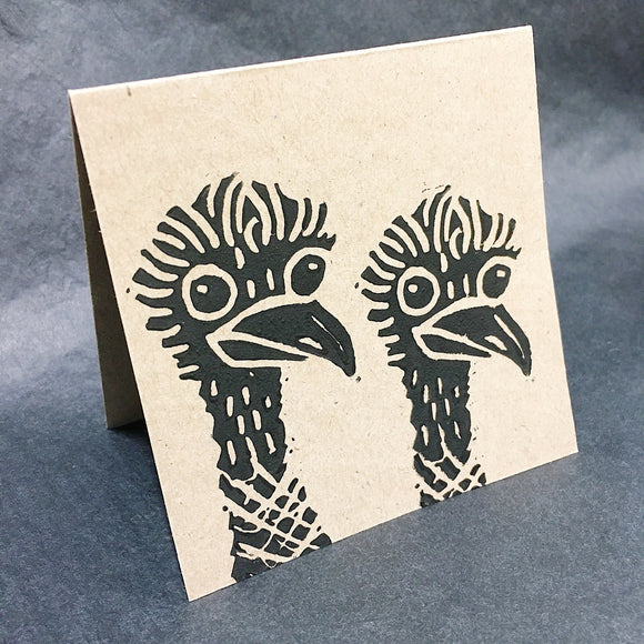 emu greeting card by value laboratory from have you met charlie a gift shop with unique handmade australian gifts in adelaide south australia