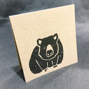 wombat greeting card by value laboratory from have you met charlie a gift shop with unique handmade australian gifts in adelaide south australia