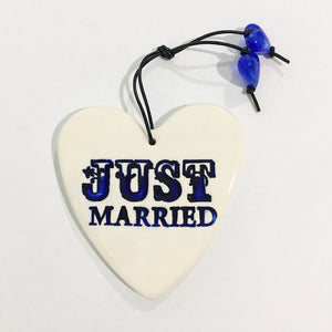 various marriage heart ceramic ornament by RJ crosses from have you met charlie a gift shop with Australian unique handmade gifts in Adelaide South Australia