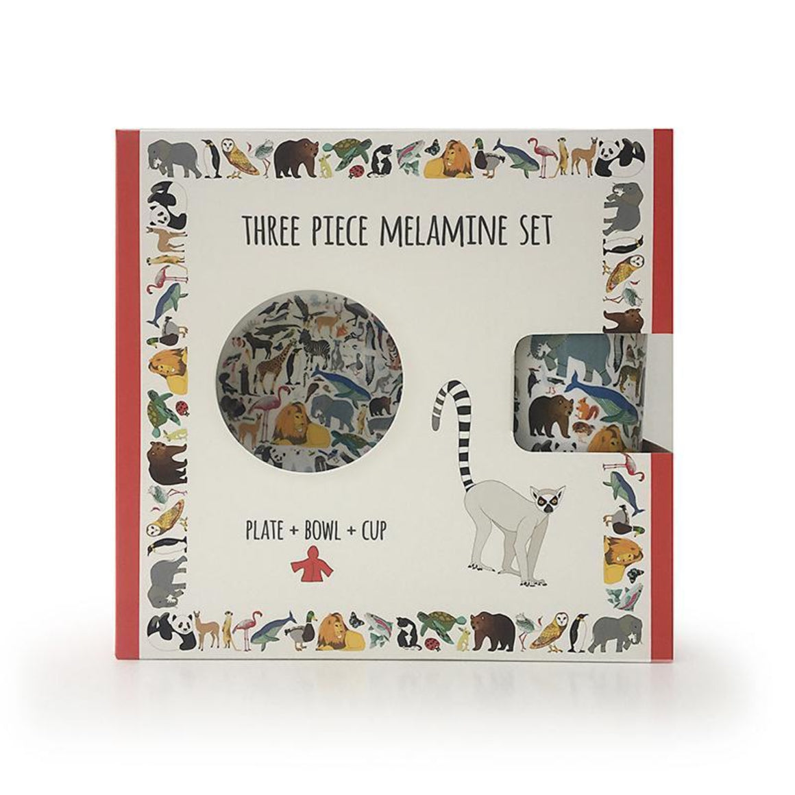 Red Parka Melamine 3 piece set - 101 Collective Nouns