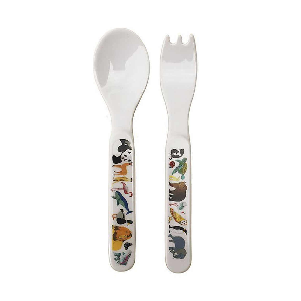 Red Parka Melamine Cutlery Sets