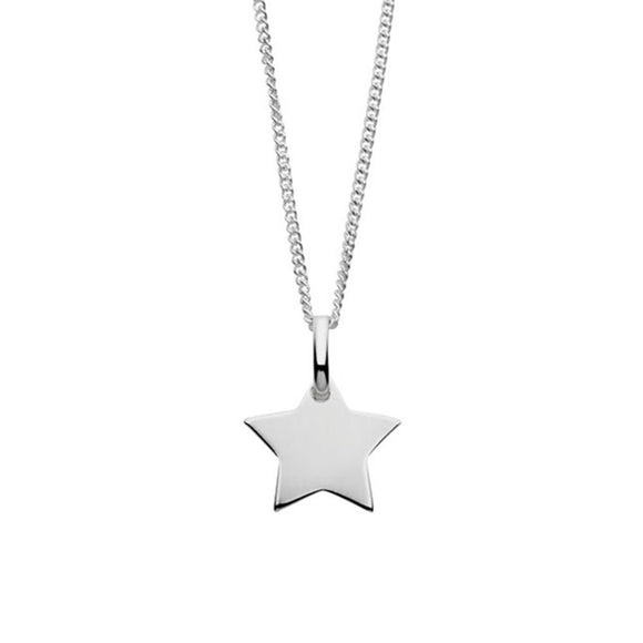 Simple sterling silver necklace with star pendant from have you met charlie handmade gift shop in adelaide south australia