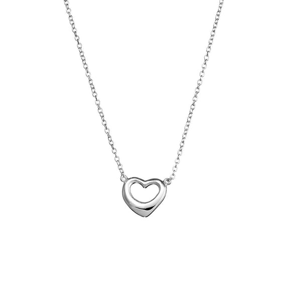 A simple sterling silver heart necklace with pendant from have you met charlie a gift shop with australian made unique gifts in adelaide south australia