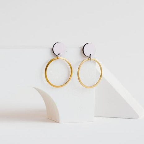 Linda Marek Designs Brass Earrings - Orbit Earring