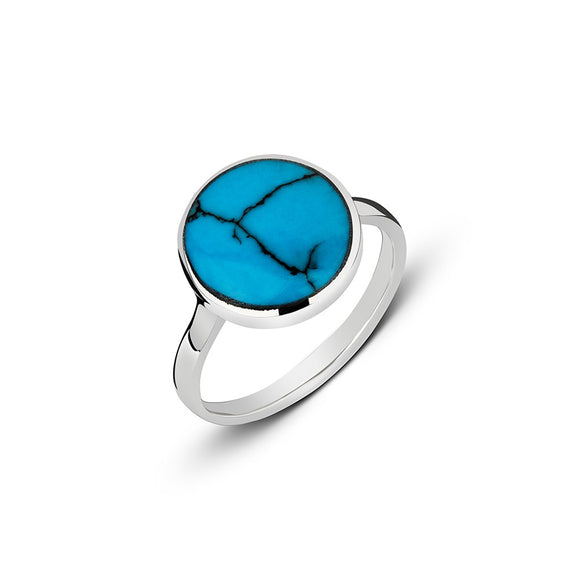 Sterling Silver stacker ring with vibrant turquoise setting.  Available in ring sizes 5-9. from have you met charlie in adelaide south australian unique gift shop