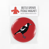 Red Parka Bottle Opener Fridge Magnets - Australian Animals