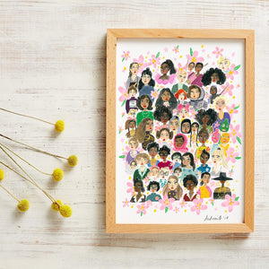 girl power art print by viktorija illustration from have you met charlie a gift shop with unique handmade australian gifts in adelaide south australia
