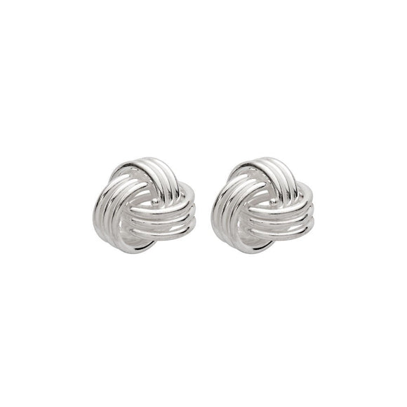 Simple Sterling Silver studs with delicate, intertwined knot detail from unique gift shop have you met charlie in adelaide south australia